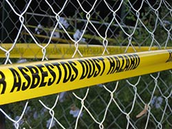 asbestos dust hazard