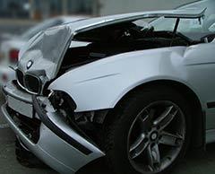 crashed car front