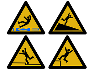 slipping tripping and falling injury signs